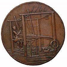 1792 Norfolk Norwich John Harvey Weaverloom Halfpenny Conder Token D&H-44