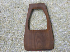 Console Shifter Plate Fiat 124 5-Spd spider nice wood  rare vintage 68-85