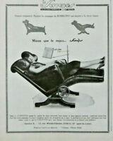 PUBLICITÉ DE PRESSE 1929 LE SURREPOS MIEUX QUE LE REPOS FAUTEUIL MOBILE