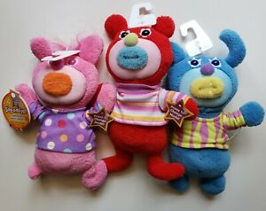 3 Fisher Price Mattel The Sing-a-ma-jigs  Plush Singing Red, Blue & Pink NEW NWT