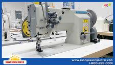 """HIGHLEAD GC-20618-2 Double Needle Walking Foot Sewing Machine 3/8"""" Needle Gauge"""