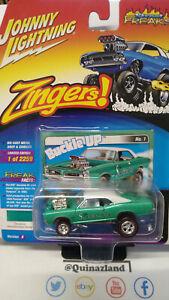 Johnny Lightning Freaks Zingers 1966 Pontiac GTO version B verte  (NG09)