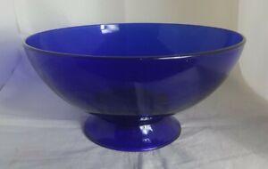 Beautiful Vintage Cobalt Blue Glass Bowl