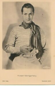 Robert Montgomery Original 1930s Vintage Photo Postcard Ross Verlag Film Actor