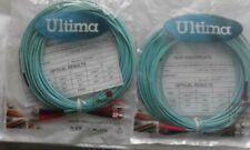 JOBLOT 2 QTY..10 METRE ULTIMA FIBRE PATCH LEAD DUPLEX ST-ST OM3