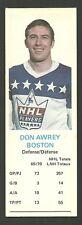 Don Awrey Boston Bruins 1970-71 Dad's Cookies Hockey Card EX/MT