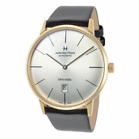 Hamilton Men's American Classic H38735751 42mm Silver Dial Leather Auto Watch