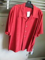 Brand New  Saks Fifth Avenue Mens 100% Silk Shirt,  X Large NWT
