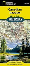 National Geographic Canadian Rockies Destination Touring Map & Guide - Canada