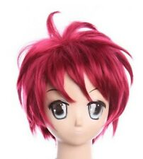 W-363 Naruto Shippuuden Gaara cosplay rojo red 31cm peluca Wig calor fijo