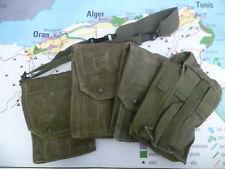 2 porte-chargeurs toile TAP 1950 PM Mat49 Algérie Indochine Légion Commando