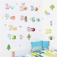 Cute Animals With Arabic Numbers Wall Stickers For Kindergarten Kids Room Decor