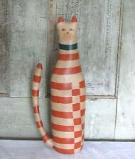 OOAK Country Primitive Handmade Hand Painted Orange Kitty Cat Shelf Sitter Doll