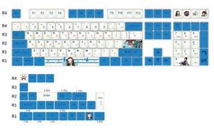 Keycaps Demon Slayer Kamado Nezuko Cherry PBT 134 Keycaps for Cherry MX Keyboard
