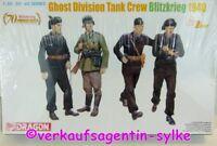 425: Dragon Modellbausatz-Figuren GHOST DIVISION TANK CREW Blitzkrieg 1940 NEU