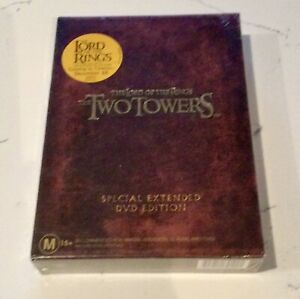 Lord Of The Rings TWO TOWERS (4 x DVD Set) Special Extended Edition NEW & SEALED