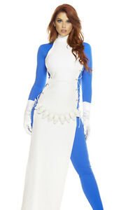 Forplay Kill The Competition Supervillain Comic Mystique Blue Catsuit Costume