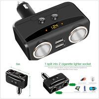 Cigarette Lighter Socket & Smart USB Car Charger DC 12-24V For Car Truck SUV Bus