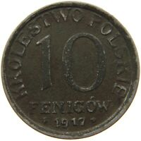 POLAND 10 FENIGOW 1917 #s42 471