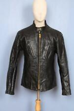 Superb Vtg 50s PASSAIC Horsehide CAFE RACER Leather Motorcycle Jacket Lrg
