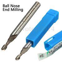 HSS & Aluminium 6mm 2 Flute Ball Nose End Milling Lathe Cutter CNC Bit