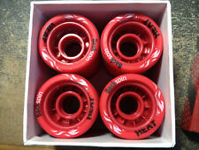 Backspin Heat Roller Derby/Speed Or Jam Wheels Set Of 8 New 62 mm x 42 mm 95A
