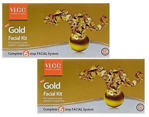 VLCC Gold Facial Kit 60gm Natural Glowing Look (pack of 2) free shipping world