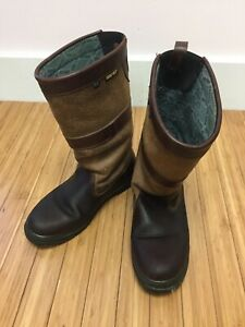 Womens Dubarry Ireland Kildare Brown Leather & Goretex Waterproof Boots 5.5 UK