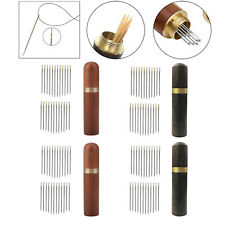 24Pcs Selbst-threading Nadeln Holz Nadel Fall Hand Nähen Stickerei Werkzeuge