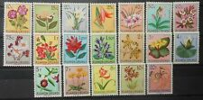 BELGIUM - RUANDA  - URUNDI FLOWERS 1953 SC : 114 - 132  MNH 3