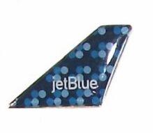 "Jet Blue Bubbles Design Tail Fin Pin Logo Lapel Collar Pin Tie Tack 3/4"""
