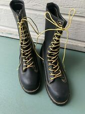 Thorogood 834-6371 Men's Steel  Toe  Work Black Boots Size 6.5 W