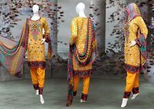 Indian/Pakistani Embroidery/Printed 3PC Lawn Kurti/Kurta Shalwar Chiffon Dupata