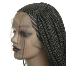 US stock 24inch Glueless Braiding Lace Front Wig  Natural Black Women Heat Resis