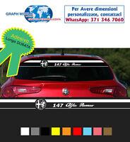 Fascia adesiva lunotto posteriore Alfa Romeo 147 strisce adesivi alfaromeo mito