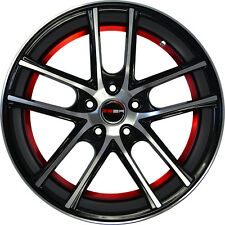 Set of 4 GWG Wheels 18 inch Black Red ZERO 18x8 Rims 5x114.3 ET40 CB74.1