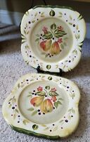 "Certified International LA TOSCANA 11"" Square Pear Dinner Plates Set of 4"
