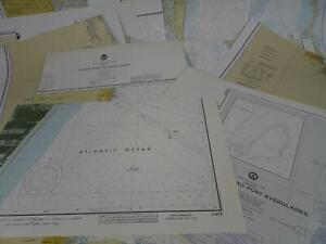 Lot 18 Florida FL NOAA Nautical Navigational Maps Charts 1970s to 1980s