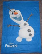 "Frozen Olaf Fleece Blanket Throw Approximately 36"" x 48"" Disney Movie Club"