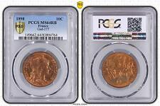 M5486 Rare 10 Centimes Dupuis 1898 PCGS MS64RD SPLENDIDE FDC -> Faire Offre