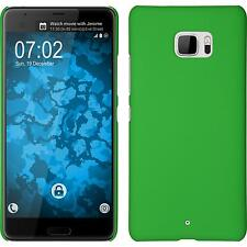 Hardcase for HTC U Ultra rubberized green Cover + protective foils