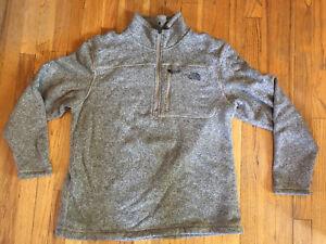 The North Face, Mens XXL Grey.  1/2 Zip Fleece.