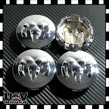 Fit Dodge Ram Set 4 Alloy Wheel Center Hub Cap Replace Emblem Badge Logo Chrome
