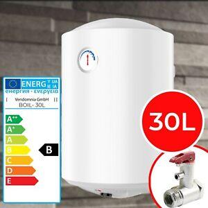 Elektro Warmwasserspeicher 30L 1500W Wasserboiler Heizleistung Boiler