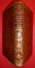 Antoine LOUIS, Lettres sur la certitude des signes de la mort - Paris, 1752 E.O.
