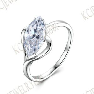Sale Solid 10K White Gold Solitaire Classic Wedding Prong Cubic Zirconia Ring