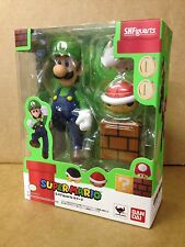 Super Mario Bros LUIGI S.H. Figuarts Bandai Tamashii Action Figure Set NEW