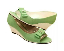 "~Vintage~ ETIENNE AIGNER ""Dina"" Green Espadrilles Wedge Sandals ~ Size 9 NIB!!!"