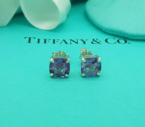 Tiffany & Co. Very Rare Amethyst and Sterling Silver Sparklers Stud Earrings