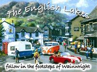 English Lakes (MG, VW) metal sign 200mm x 150mm (og) REDUCED